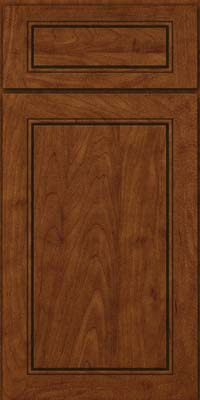 Square Raised Panel - Solid (PVM) Maple in Cognac - Base