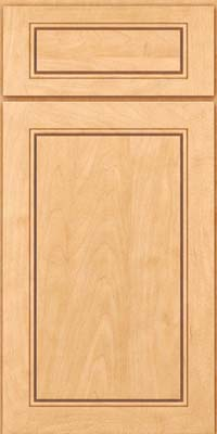 Square Raised Panel - Solid (PVM) Maple in Honey Spice - Base