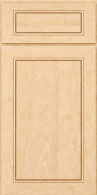 Square Raised Panel - Solid (PVM) Maple in Natural - Base