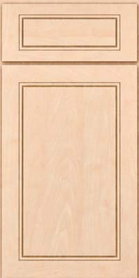 Square Raised Panel - Solid (PVM) Maple in Parchment - Base