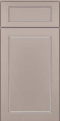 Square Raised Panel - Solid (PVM) Maple in Pebble Grey w/ Cocoa Glaze - Base