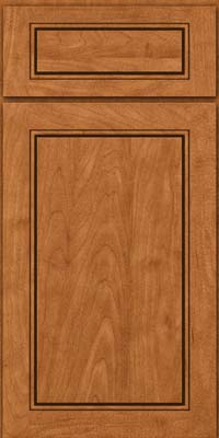 Square Raised Panel - Solid (PVM) Maple in Praline w/Mocha Highlight - Base