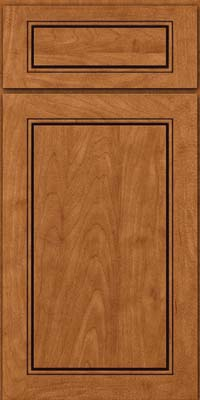 Square Raised Panel - Solid (PVM) Maple in Praline w/Onyx Glaze - Base