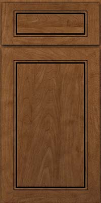 Square Raised Panel - Solid (PVM) Maple in Rye w/Onyx Glaze - Base