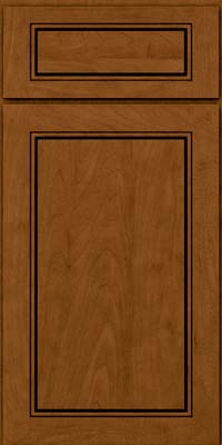 Square Raised Panel - Solid (PVM) Maple in Rye w/Sable Glaze - Base