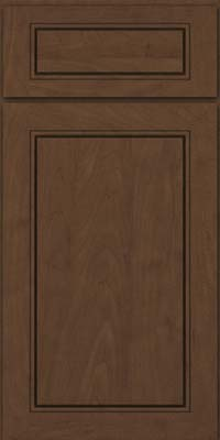 Square Raised Panel - Solid (PVM) Maple in Saddle Suede - Base