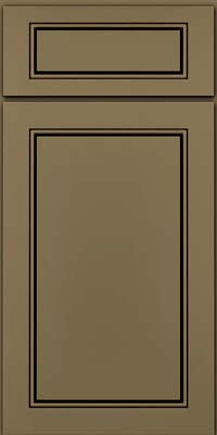Square Raised Panel - Solid (PVM) Maple in Sage w/Cocoa Glaze - Base