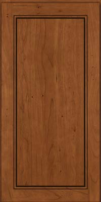 Square Raised Panel - Solid (PVB) Birch in Antique Chocolate w/Mocha Glaze - Wall