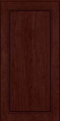 Square Raised Panel - Solid (PVB) Birch in Cabernet - Wall