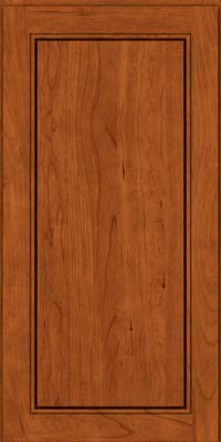 Square Raised Panel - Solid (PVB) Birch in Cinnamon - Wall