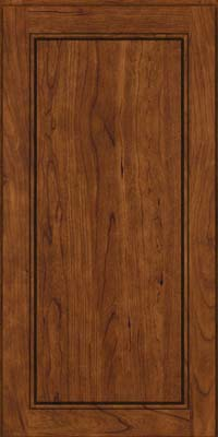 Square Raised Panel - Solid (PVB) Birch in Cognac - Wall