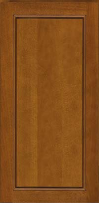 Square Raised Panel - Solid (PVB) Birch in Golden Lager - Wall