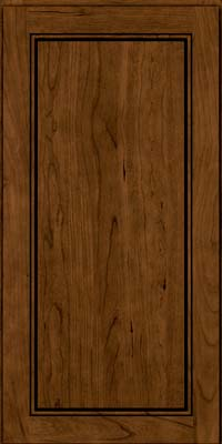 Square Raised Panel - Solid (PVB) Birch in Rye w/Sable Glaze - Wall