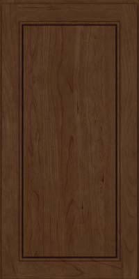 Square Raised Panel - Solid (PVB) Birch in Saddle Suede - Wall