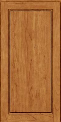 Square Raised Panel - Solid (PVB) Birch in Toffee - Wall