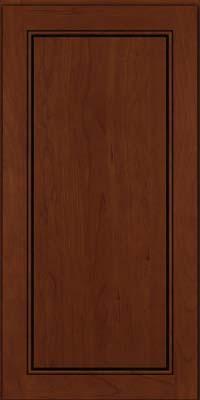 Square Raised Panel - Solid (PVC) Cherry in Autumn Blush w/Onyx Glaze - Wall