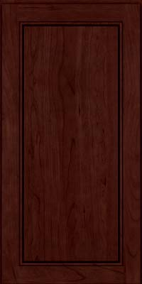 Square Raised Panel - Solid (PVC) Cherry in Cabernet - Wall