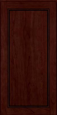 Square Raised Panel - Solid (PVC) Cherry in Cabernet w/Onyx Glaze - Wall