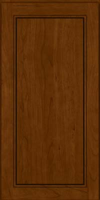 Square Raised Panel - Solid (PVC) Cherry in Chocolate - Wall