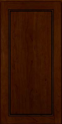 Square Raised Panel - Solid (PVC) Cherry in Chocolate w/Ebony Glaze - Wall