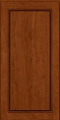 Square Raised Panel - Solid (PVC) Cherry in Cinnamon w/Onyx Glaze - Wall
