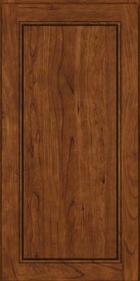 Square Raised Panel - Solid (PVC) Cherry in Cognac - Wall