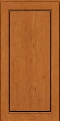 Square Raised Panel - Solid (PVC) Cherry in Honey Spice - Wall
