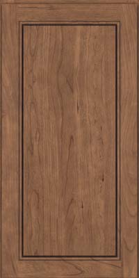 Square Raised Panel - Solid (PVC) Cherry in Husk - Wall