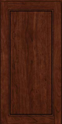 Square Raised Panel - Solid (PVC) Cherry in Kaffe - Wall