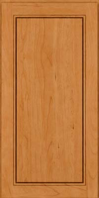 Square Raised Panel - Solid (PVC) Cherry in Natural - Wall