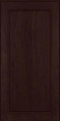 Square Raised Panel - Solid (PVC) Cherry in Peppercorn - Wall
