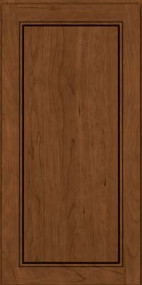Square Raised Panel - Solid (PVC) Cherry in Rye w/Sable Glaze - Wall