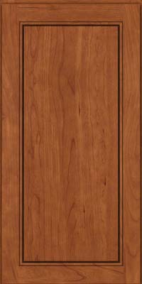 Square Raised Panel - Solid (PVC) Cherry in Sunset - Wall