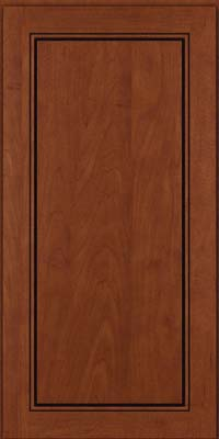 Square Raised Panel - Solid (PVM) Maple in Chestnut w/Onyx Glaze - Wall
