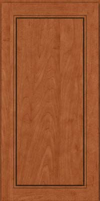 Square Raised Panel - Solid (PVM) Maple in Cinnamon - Wall