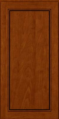 Square Raised Panel - Solid (PVM) Maple in Cinnamon w/Onyx Glaze - Wall