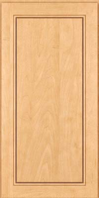 Square Raised Panel - Solid (PVM) Maple in Honey Spice - Wall