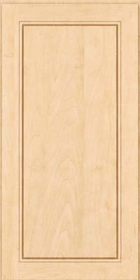 Square Raised Panel - Solid (PVM) Maple in Natural - Wall