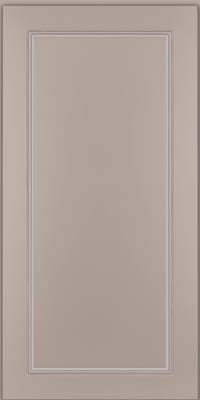 Square Raised Panel - Solid (PVM) Maple in Pebble Grey w/ Coconut Glaze - Wall