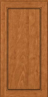 Square Raised Panel - Solid (PVM) Maple in Praline w/Mocha Highlight - Wall