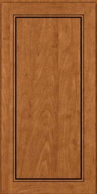Square Raised Panel - Solid (PVM) Maple in Praline w/Onyx Glaze - Wall
