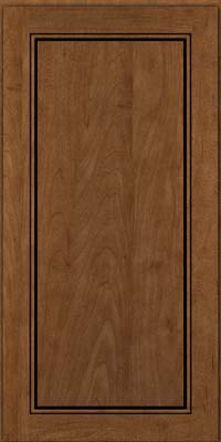 Square Raised Panel - Solid (PVM) Maple in Rye w/Onyx Glaze - Wall
