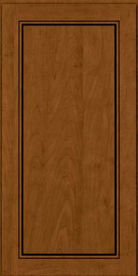 Square Raised Panel - Solid (PVM) Maple in Rye w/Sable Glaze - Wall