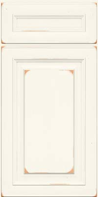 Square Raised Panel - Solid (RTC) Cherry in Vintage Dove White - Base