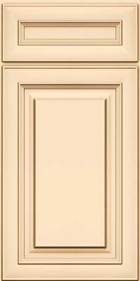 Square Raised Panel - Solid (RTM) Maple in Biscotti w/Cocoa Glaze - Base