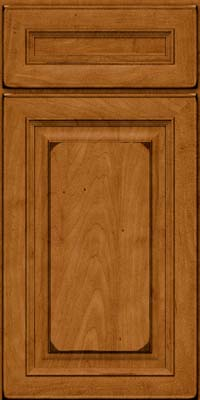 Square Raised Panel - Solid (RTM) Maple in Burnished Golden Lager - Base