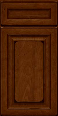 Square Raised Panel - Solid (RTM) Maple in Burnished Chestnut - Base