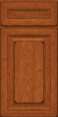 Square Raised Panel - Solid (RTM) Maple in Burnished Cinnamon - Base
