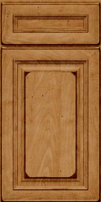 Square Raised Panel - Solid (RTM) Maple in Burnished Ginger - Base