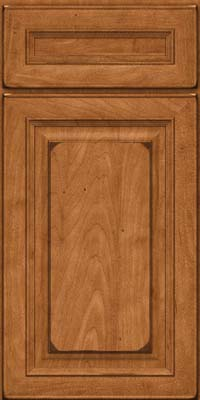 Square Raised Panel - Solid (RTM) Maple in Burnished Praline - Base